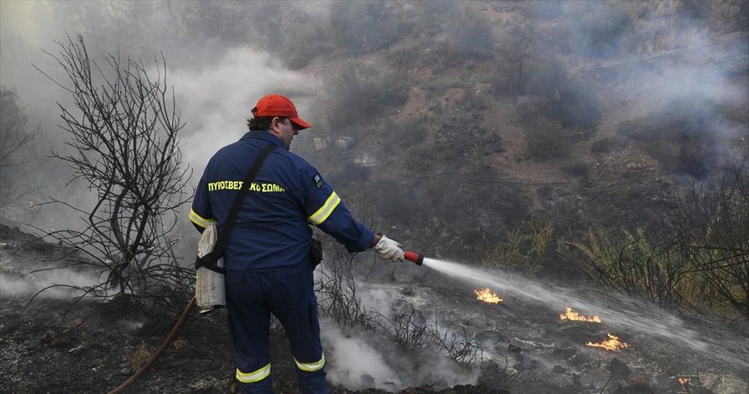Πυρκαγιές σε Εύβοια και Κορινθία